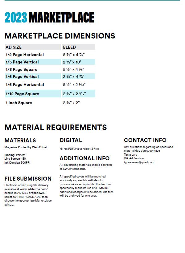 2020 Marketplace Ad Specifications - Runner's World Magazine Media Kit
