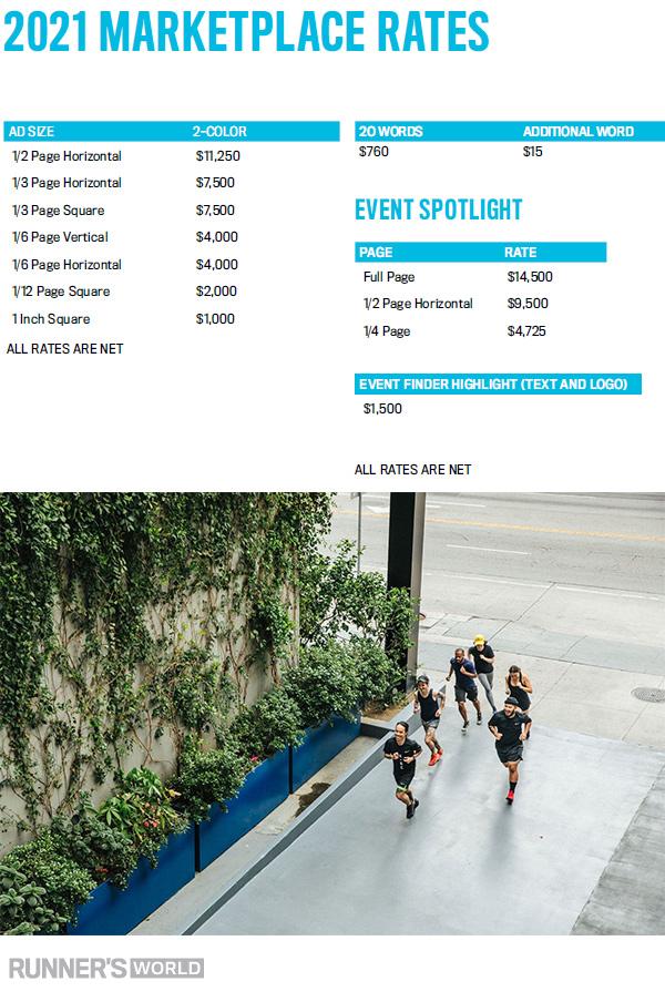 2020 Marketplace Rates - Runner's World Magazine Media Kit