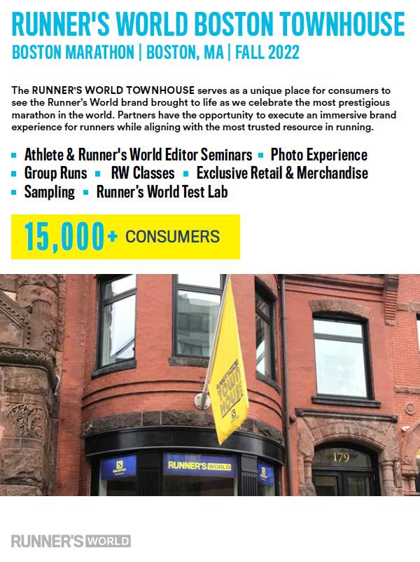 Runner's World Boston Pop-up - Runner's World Magazine Media Kit