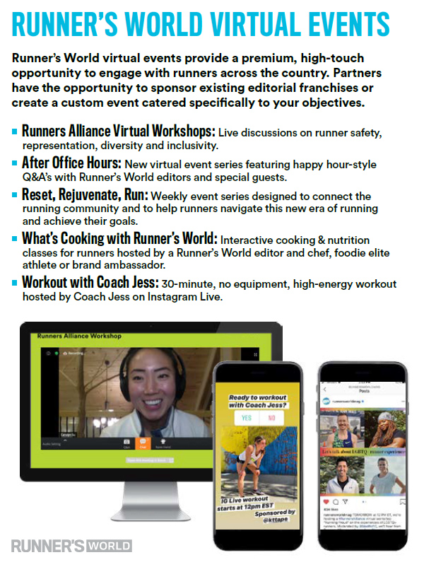 Runner's World Studio Runs - Runner's World Magazine Media Kit