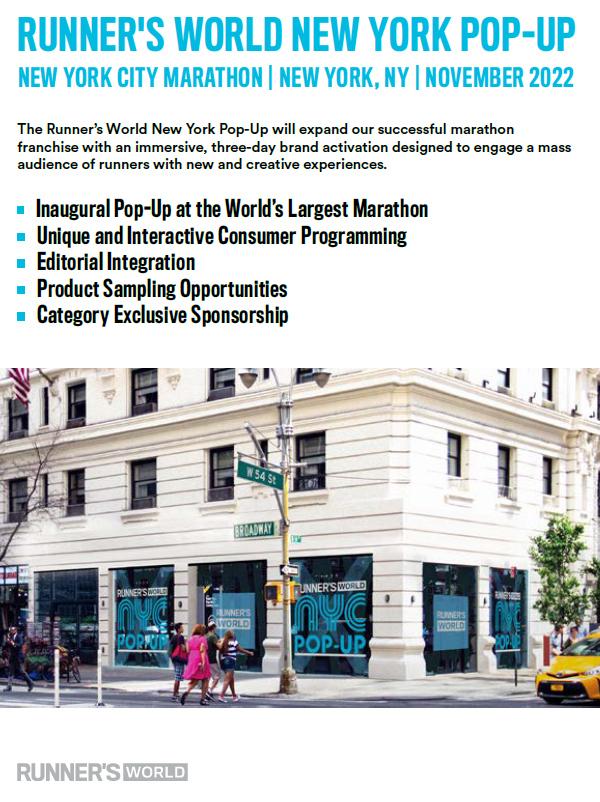 Runner's World New York Pop-up - Runner's World Magazine Media Kit